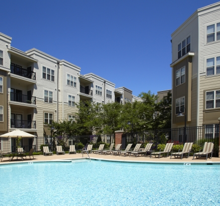 Pool at Camden Fairfax Corner Apartments in Fairfax Virginia