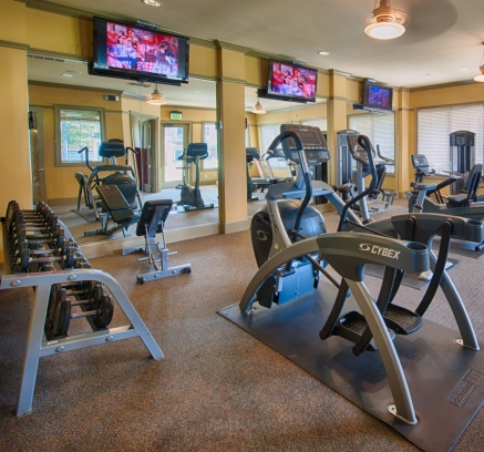 Fitness Center at Camden South Bay Apartments in Corpus Christi, Texas